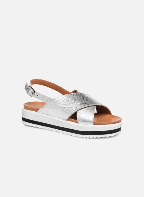 Sandales et nu-pieds Made by SARENZA South Village Sandales Plates #2 Argent vue droite