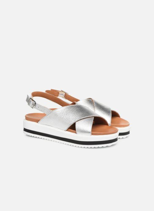 Sandales et nu-pieds Made by SARENZA South Village Sandales Plates #2 Argent vue derrière