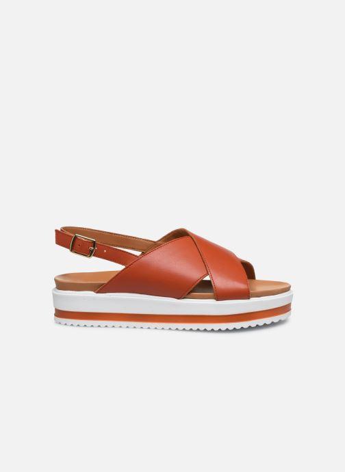 Sandales et nu-pieds Made by SARENZA South Village Sandales Plates #2 Orange vue détail/paire