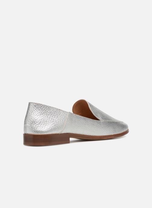 Loafers Made by SARENZA Sport Party Mules #2 Silver front view