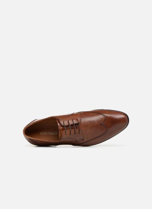 Chaussures à lacets Marvin&Co Newheart Marron vue gauche