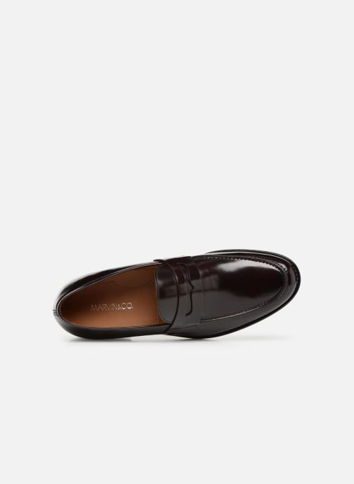 Mocassins Marvin&Co Nassino Bordeaux vue gauche