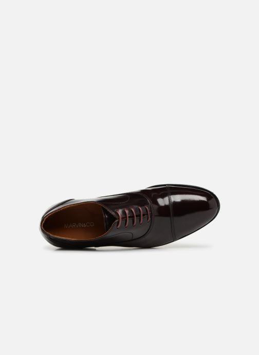 Zapatos con cordones Marvin&Co Nolac Vino vista lateral izquierda