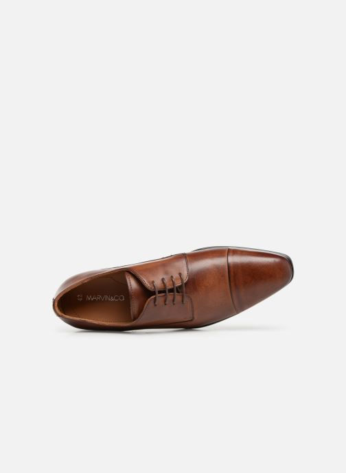 Chaussures à lacets Marvin&Co Newnight Marron vue gauche