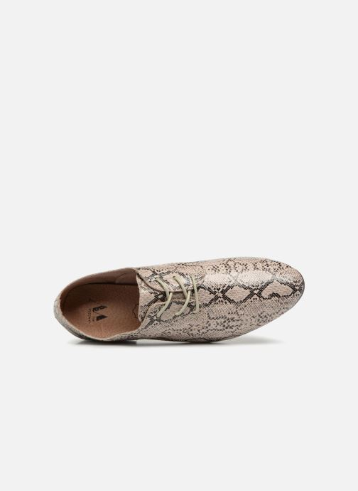 Lace-up shoes Vanessa Wu RL1142 Beige view from the left