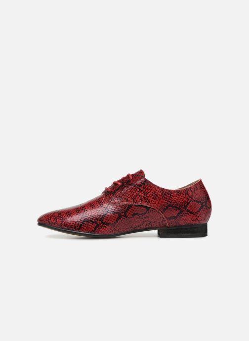 Zapatos con cordones Vanessa Wu RL1142 Vino vista de frente