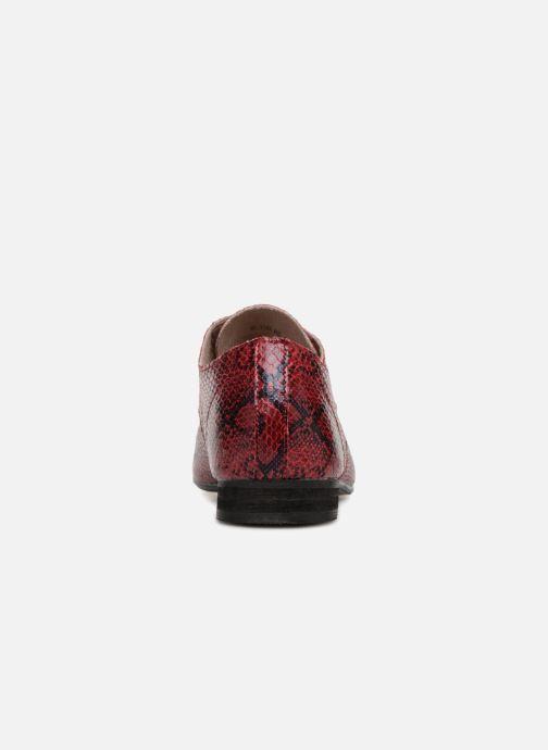 Zapatos con cordones Vanessa Wu RL1142 Vino vista lateral derecha