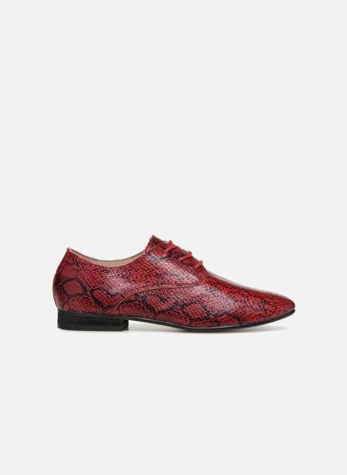 Zapatos con cordones Vanessa Wu RL1142 Vino vistra trasera