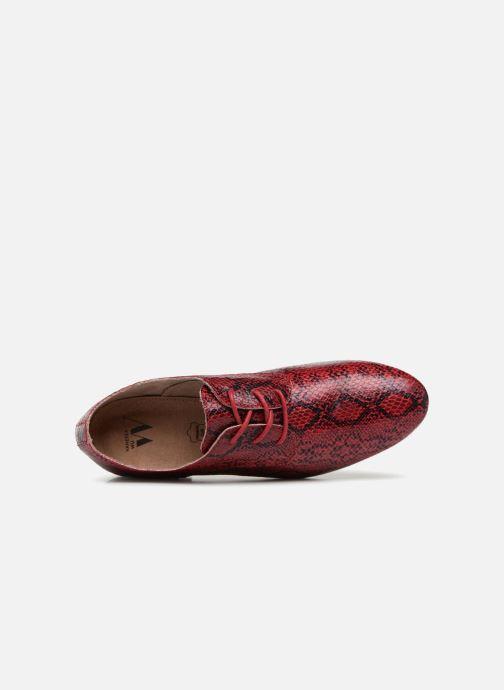 Zapatos con cordones Vanessa Wu RL1142 Vino vista lateral izquierda