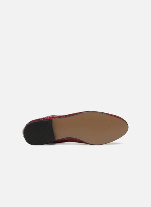 Zapatos con cordones Vanessa Wu RL1142 Vino vista de arriba