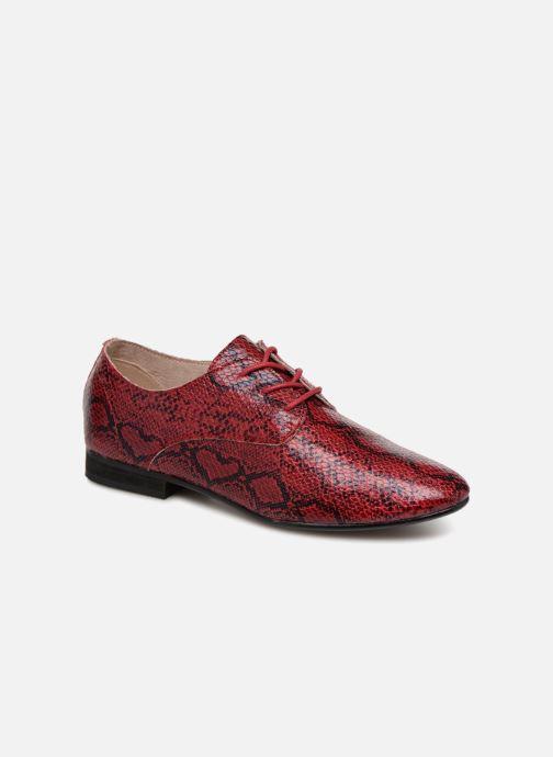 Chaussures à lacets Vanessa Wu RL1142 Bordeaux vue détail/paire