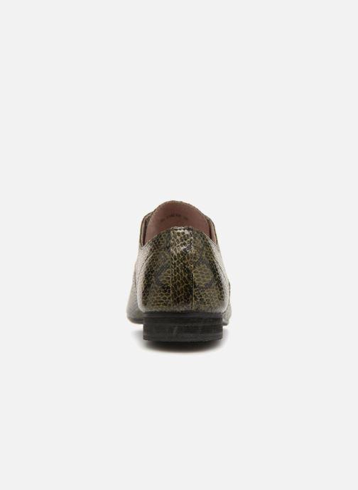 Zapatos con cordones Vanessa Wu RL1142 Verde vista lateral derecha