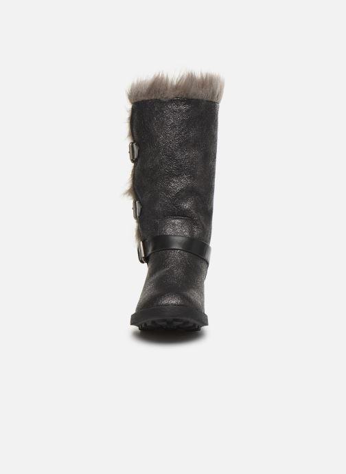 Bottes Vanessa Wu BT1689 Gris vue portées chaussures