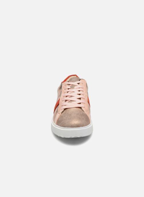Baskets Vanessa Wu BK1655 Or et bronze vue portées chaussures