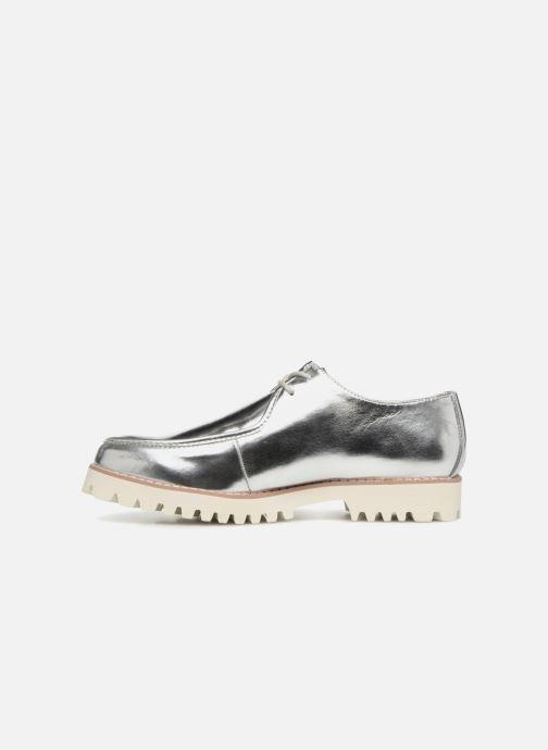 Zapatos con cordones Vanessa Wu RL1034 Plateado vista de frente