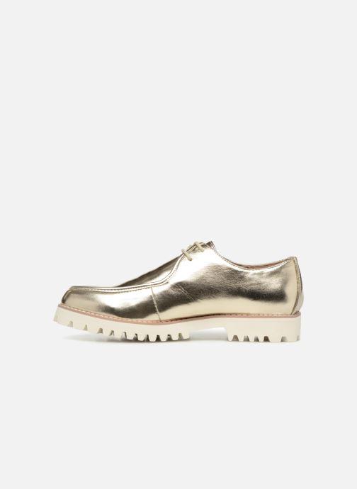 Zapatos con cordones Vanessa Wu RL1034 Oro y bronce vista de frente