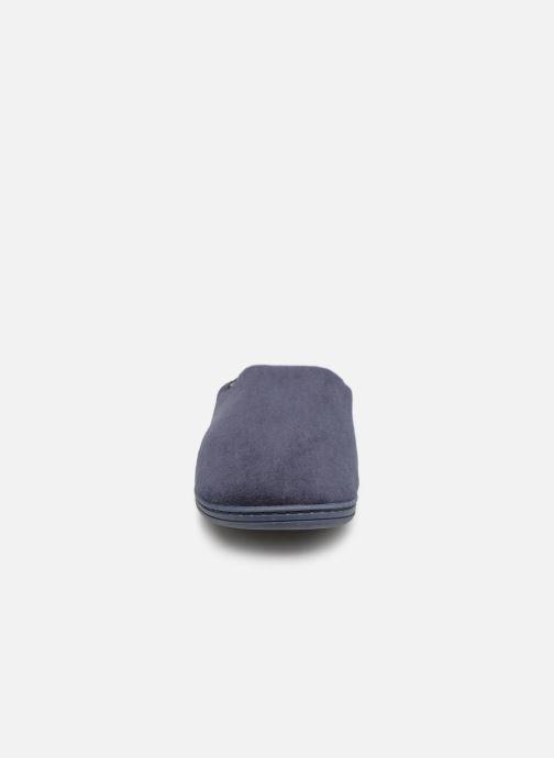 Chaussons Dim D Pado C Bleu vue portées chaussures