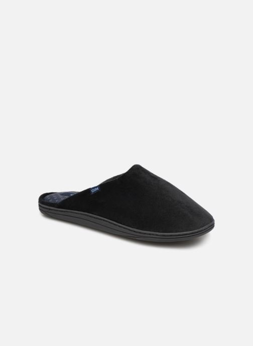 Slippers Dim D Paolo C Black detailed view/ Pair view