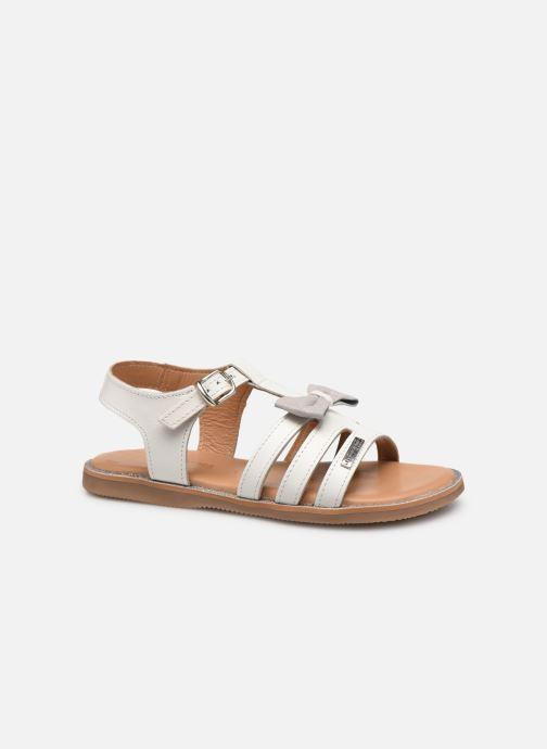 Sandales et nu-pieds Les Tropéziennes par M Belarbi Ingrida Blanc vue derrière