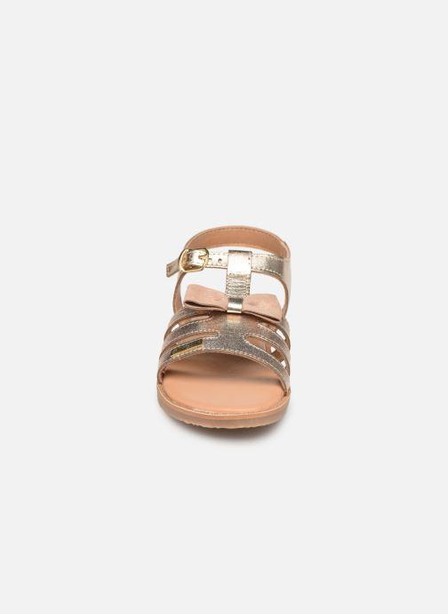 Sandales et nu-pieds Les Tropéziennes par M Belarbi Ingrida Or et bronze vue portées chaussures