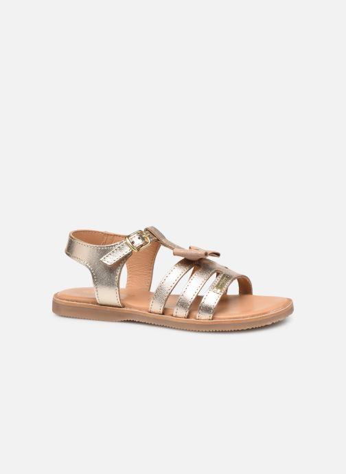 Sandales et nu-pieds Les Tropéziennes par M Belarbi Ingrida Or et bronze vue derrière