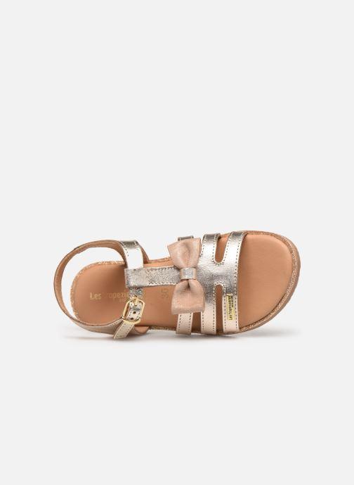 Sandales et nu-pieds Les Tropéziennes par M Belarbi Ingrida Or et bronze vue gauche
