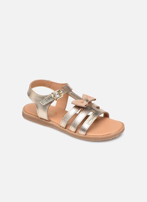 Sandales et nu-pieds Les Tropéziennes par M Belarbi Ingrida Or et bronze vue détail/paire