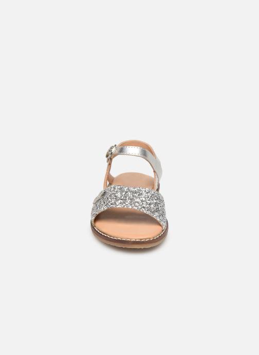 Sandales et nu-pieds Les Tropéziennes par M Belarbi Ivana Argent vue portées chaussures