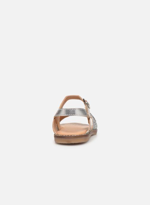 Sandales et nu-pieds Les Tropéziennes par M Belarbi Ivana Argent vue droite