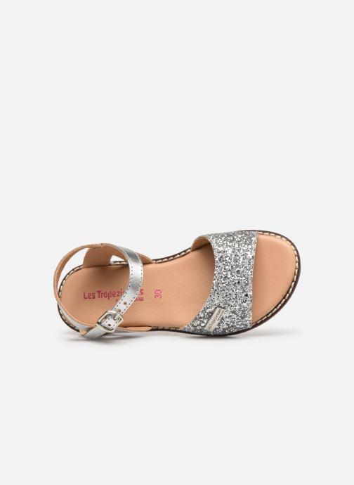 Sandales et nu-pieds Les Tropéziennes par M Belarbi Ivana Argent vue gauche