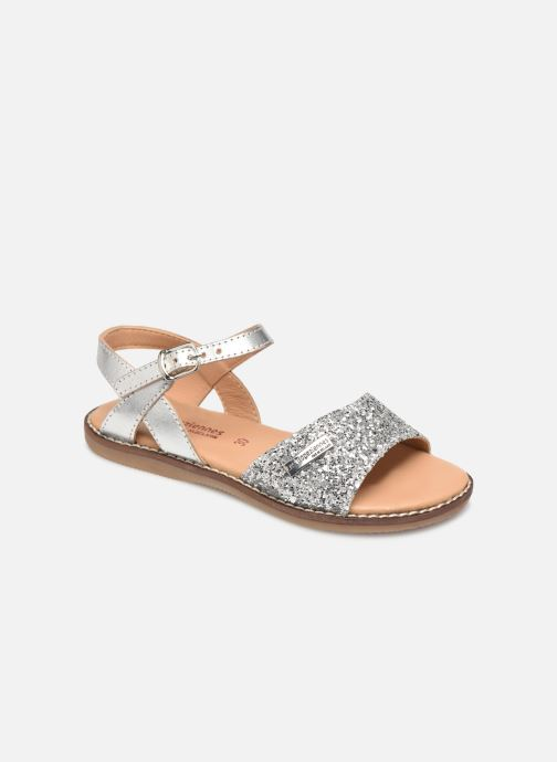 Sandales et nu-pieds Les Tropéziennes par M Belarbi Ivana Argent vue détail/paire