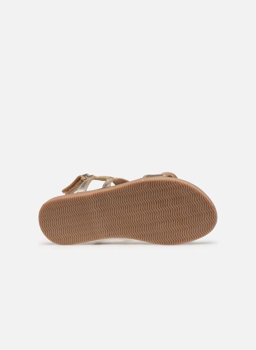 Sandales et nu-pieds Les Tropéziennes par M Belarbi Ilam Or et bronze vue haut