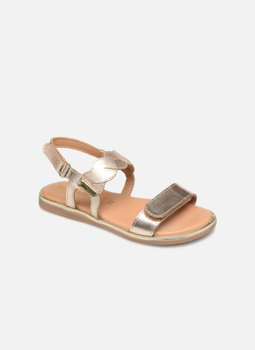 Sandales et nu-pieds Les Tropéziennes par M Belarbi Ilam Or et bronze vue détail/paire