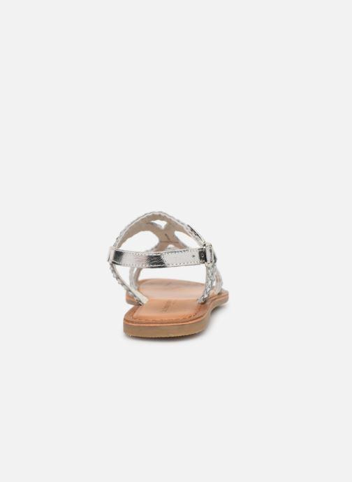 Sandalias Les Tropéziennes par M Belarbi Tissiana Plateado vista lateral derecha