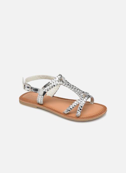Sandals Les Tropéziennes par M Belarbi Tissiana Silver detailed view/ Pair view