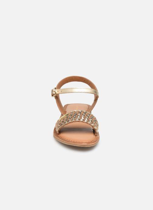 Sandalias Les Tropéziennes par M Belarbi Tony Oro y bronce vista del modelo