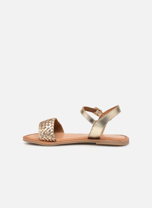 Sandales et nu-pieds Les Tropéziennes par M Belarbi Tony Or et bronze vue face