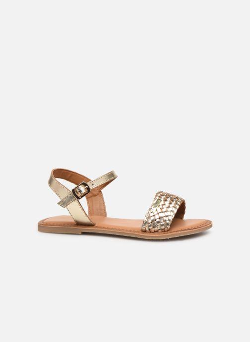 Sandales et nu-pieds Les Tropéziennes par M Belarbi Tony Or et bronze vue derrière