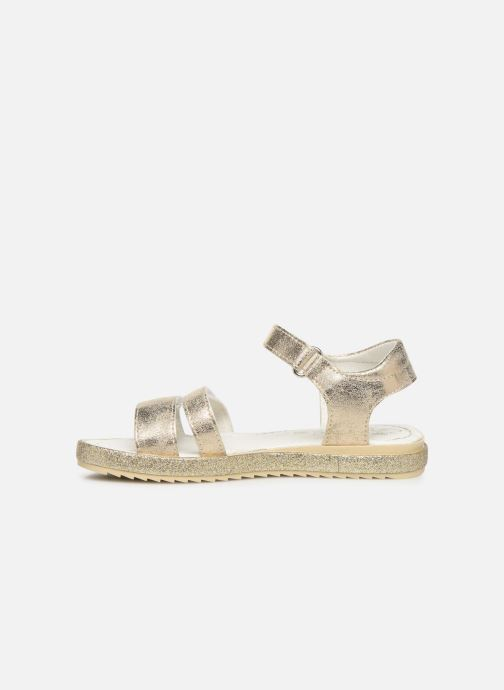 Sandales et nu-pieds Primigi PES 34313 Or et bronze vue face