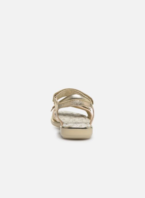 Sandales et nu-pieds Primigi PDI 34357 Or et bronze vue droite