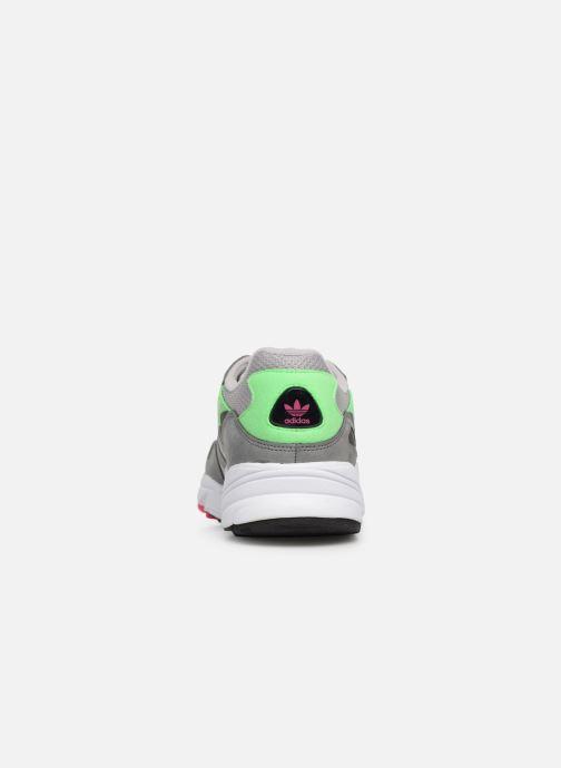 Baskets adidas originals Yung-96 Gris vue droite