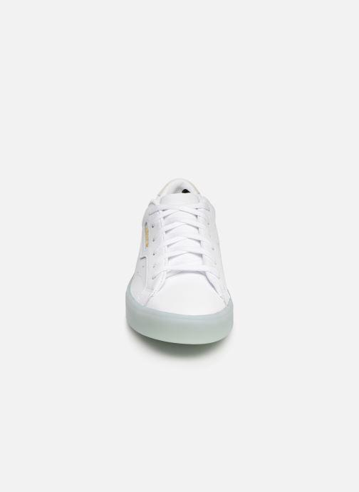 Sneaker adidas originals Adidas Sleek W weiß schuhe getragen