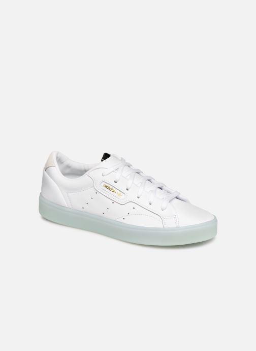 Baskets adidas originals Adidas Sleek W Blanc vue détail/paire