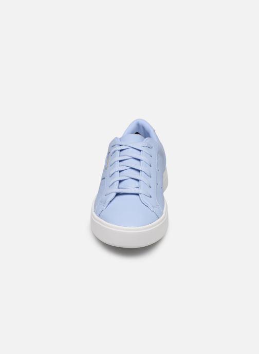 Sneaker adidas originals Adidas Sleek W blau schuhe getragen