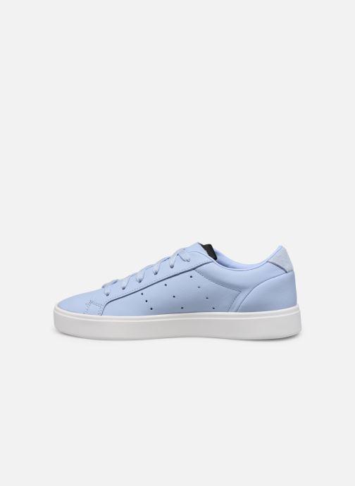 Sneaker adidas originals Adidas Sleek W blau ansicht von vorne