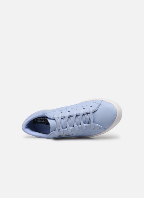 Sneaker adidas originals Adidas Sleek W blau ansicht von links