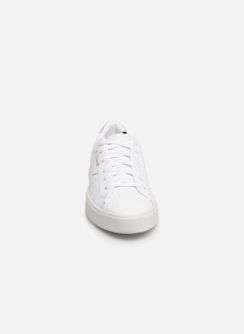 Baskets adidas originals Adidas Sleek W Blanc vue portées chaussures