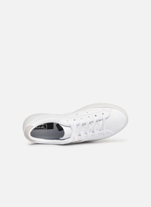 Sneaker adidas originals Adidas Sleek W weiß ansicht von links