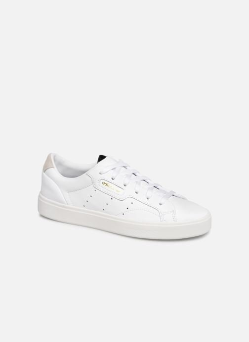 Baskets adidas originals Adidas Sleek W Blanc vue détail/paire