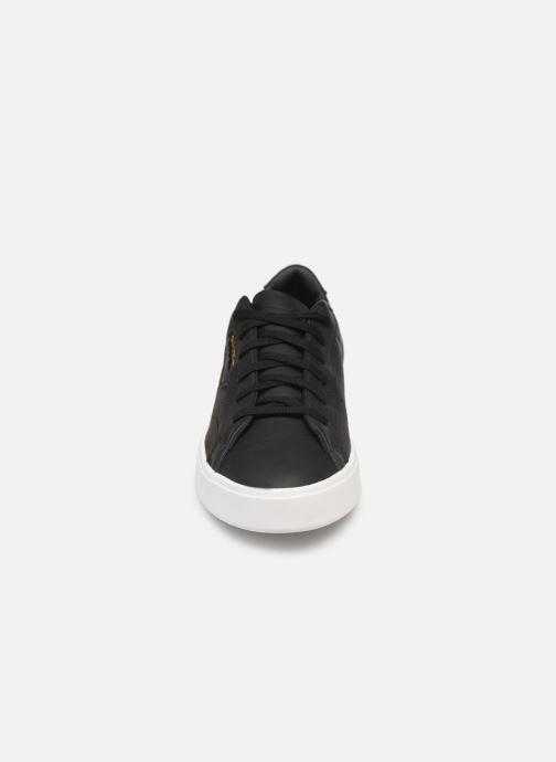 Sneaker adidas originals Adidas Sleek W schwarz schuhe getragen